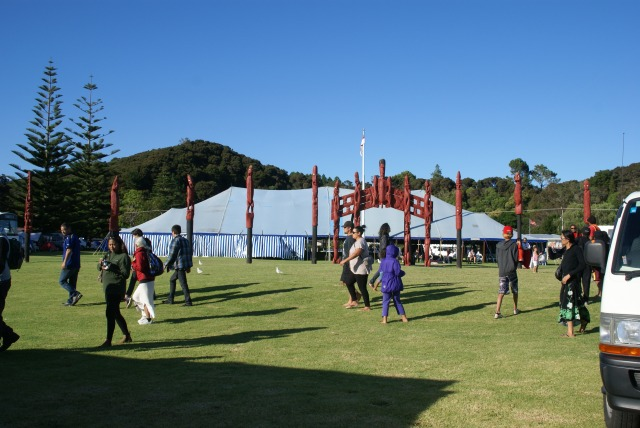 Ngati Hau's Political Forum Tent at Waitangi, February 6, 2013