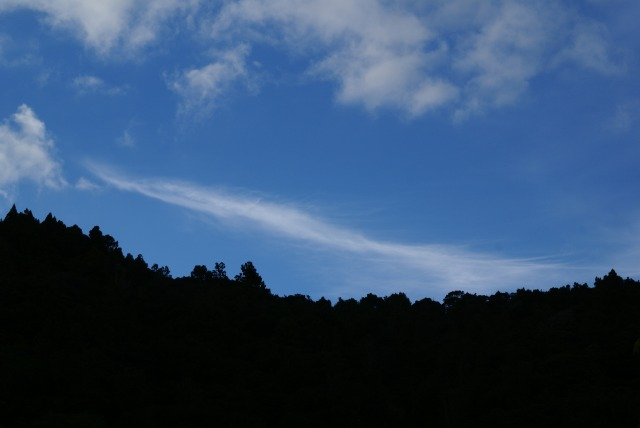 One of numerous aerosol trails photographed on March 2nd, 2013 from Whangarei.