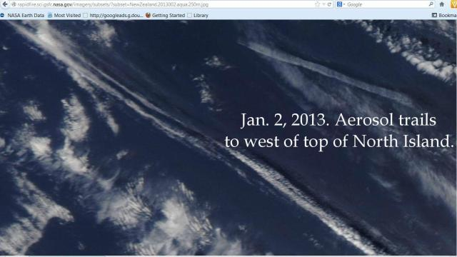 B  huge chemtrails  west of top of NI Jan 2