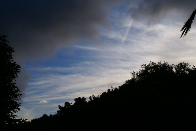 May 16, 2013. Photo of aerosols taken from Woodhill, Whangarei looking east.
