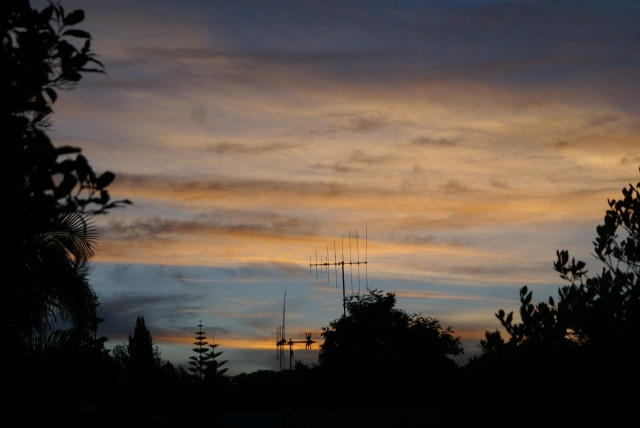 Looking towards the west from Woodhill, Whangarei at 8.43pm.
