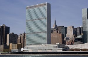UN's Headquarters in NY, Its main headquarters is situated in New York on land donated by John D. Rockefeller Jr.