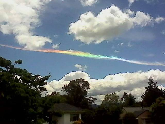 COLOURED CHEMTRAIL