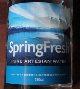 SpringFresh bottle. Photo from Jeff O.