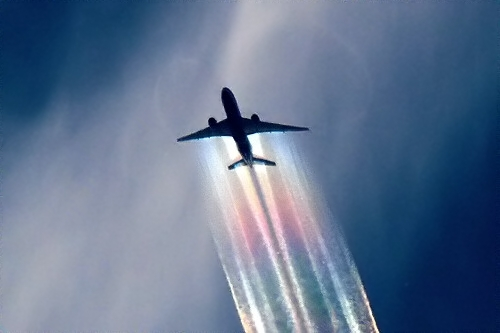 An aerosol delivery device spans much of the wings