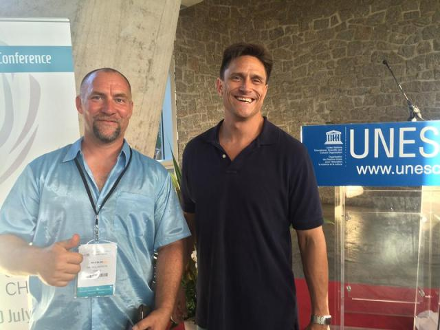 Max Bliss and Michael Murphy at the UNESCO Conference centre in Paris