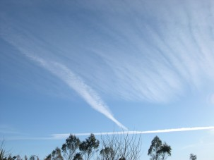 Hokitika chemtrails 18 August 9am